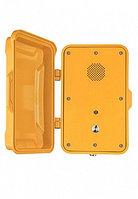 J&R JR102-SC-Y-SIP,промышленный телефон, 1 кнопка,без трубки, громкая связь, с крышкой
