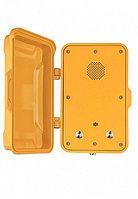 J&R JR102-2B-Y-SIP,промышленный телефон, 2 кнопки,без трубки, громкая связь, с крышкой