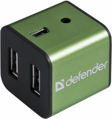 Хаб 4-портовый мини-разветвитель USB 2.0 Defender Quadro Iron
