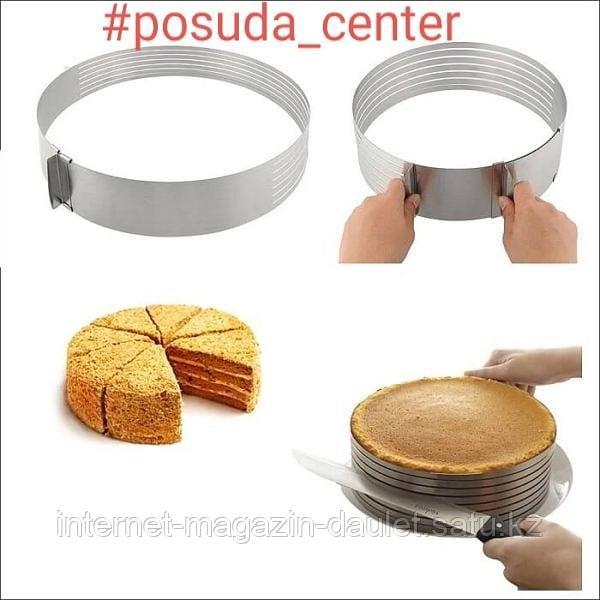Форма для выпечки и нарезки бисквита с регулировкой