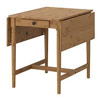 Стол c откидными полами ИНГАТОРП морилка, антик ИКЕА, IKEA  , фото 1