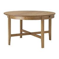 Стол раздвижной ЛЕКСВИК морилка 126/171 см ИКЕА, IKEA, фото 1
