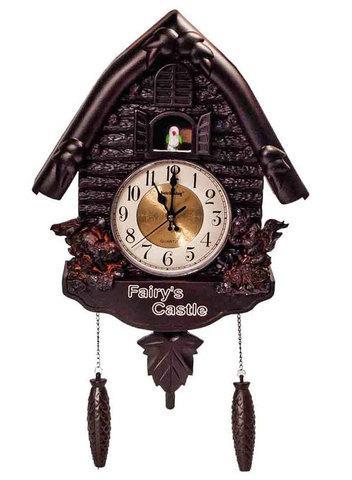 Часы настенные кварцевые под старину с кукушкой Fairy's Castle