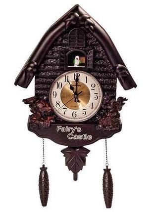 Часы настенные кварцевые под старину с кукушкой Fairy's Castle, фото 2