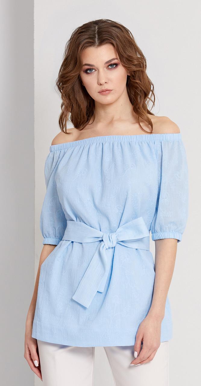 Блузка EOLA-1676, голубой, 44