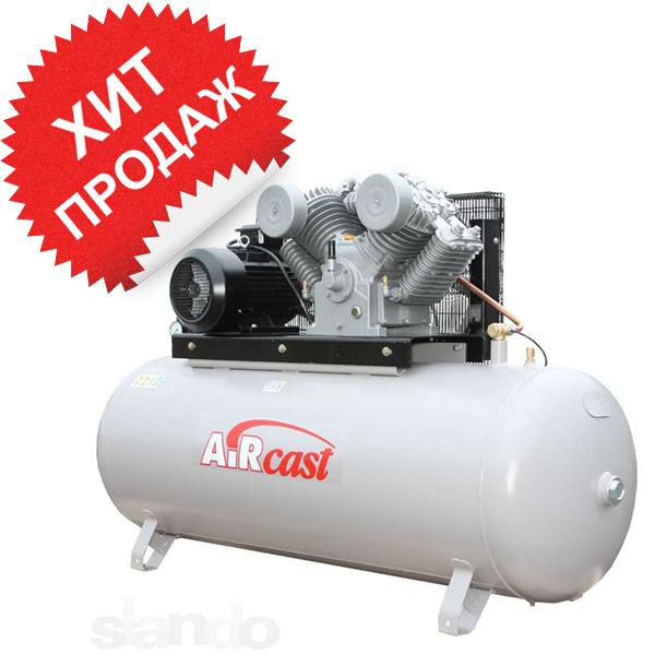 Поршневой компрессор с электродвигателем Remeza Aircast СБ4/Ф-500. LТ 100