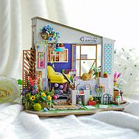 Румбокс Крыльцо Лилии со светодиодной подсветкой DIY House Lily's Porch