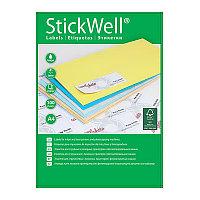 Этикетки Stickwell 21шт. 70х42,4мм. самоклеющие # 11250