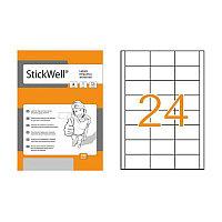 Этикетки Stickwell 24шт.70х37 мм. самоклеющие # 11249