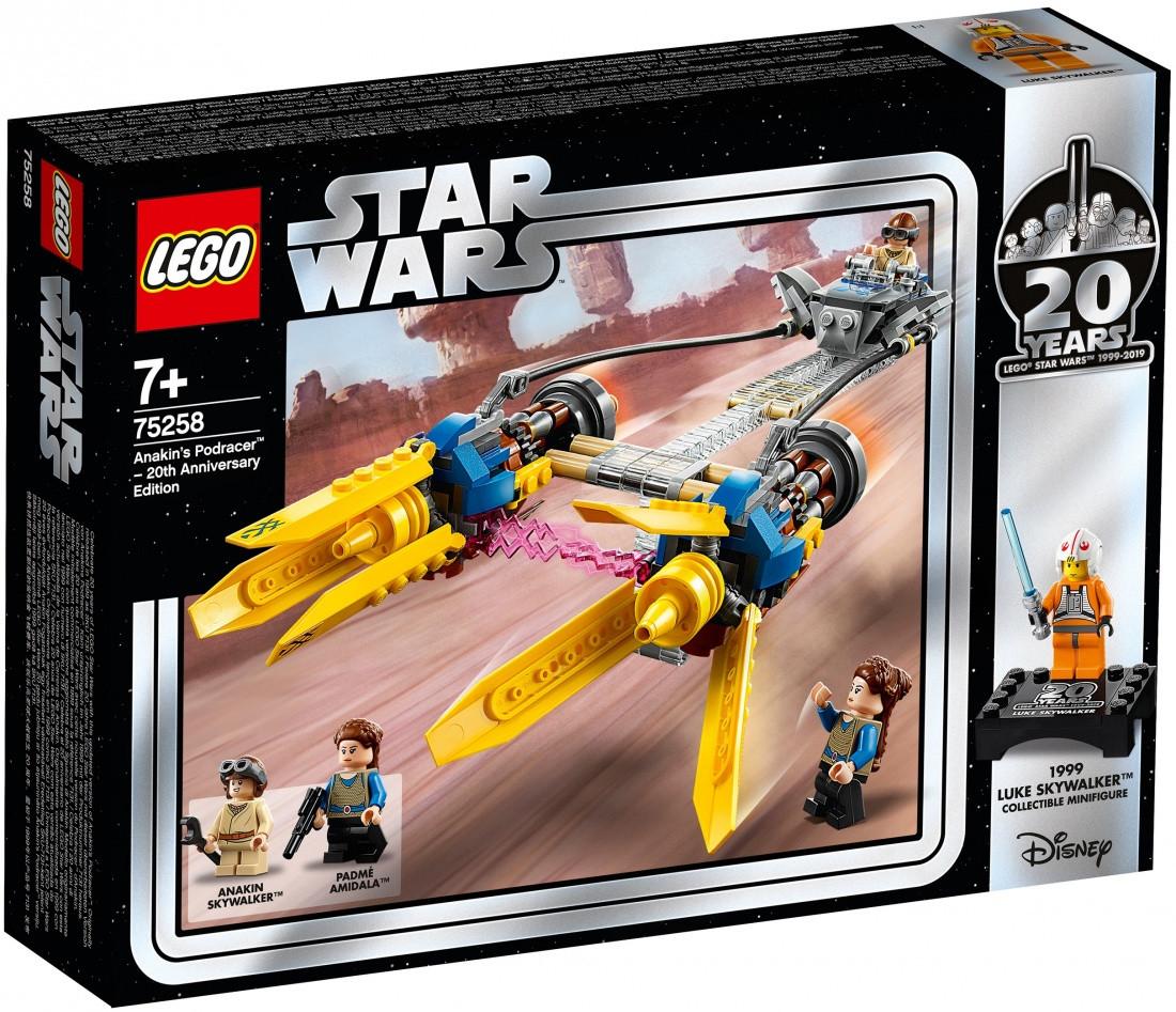 75258 Lego Star Wars Гоночный под Энакина: выпуск к 20-летнему юбилею, Лего Звездные войны