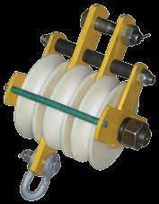Блок полиспастный БПИ-25 г/п 2,5 т полиамидные ролики