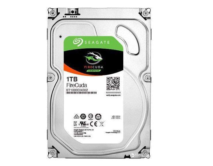 "Гибридный Жесткий диск HDD 1Tb Seagate FireCuda SATA (ST1000DX002) (3,5"")"