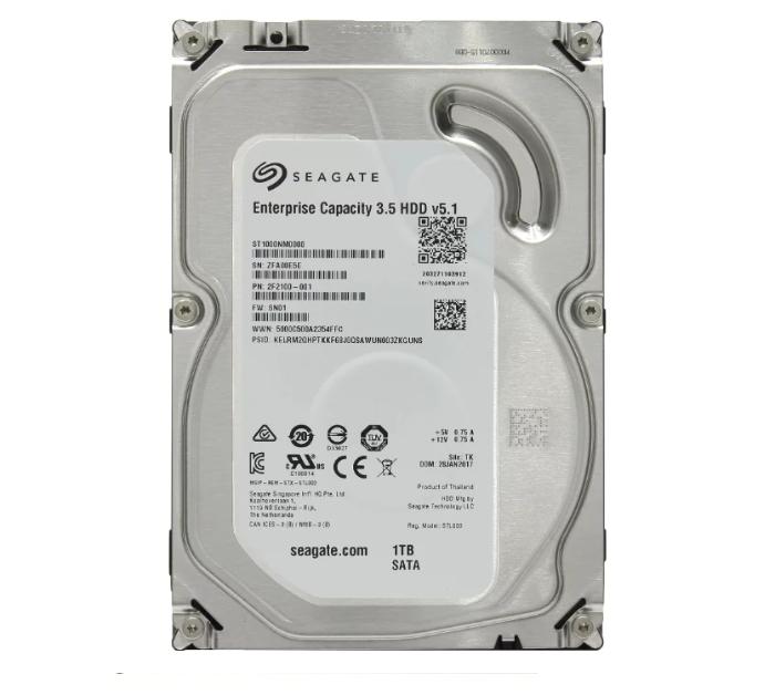 "Жесткий диск HDD 1000 Gb Seagate Enterprise Capacity (ST1000NM0008), 3.5"", 128Mb, SATA"