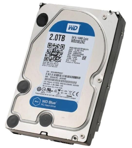 """Жесткий диск HDD 2000 Gb Western Digital (WD20EZRZ), 3.5"""", 64Mb, SATA III"""