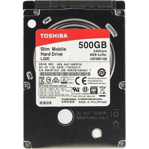 """Жесткий диск HDD 500 Gb Toshiba HDWK105UZSVA, 2.5"""", 8Mb, SATA III"""