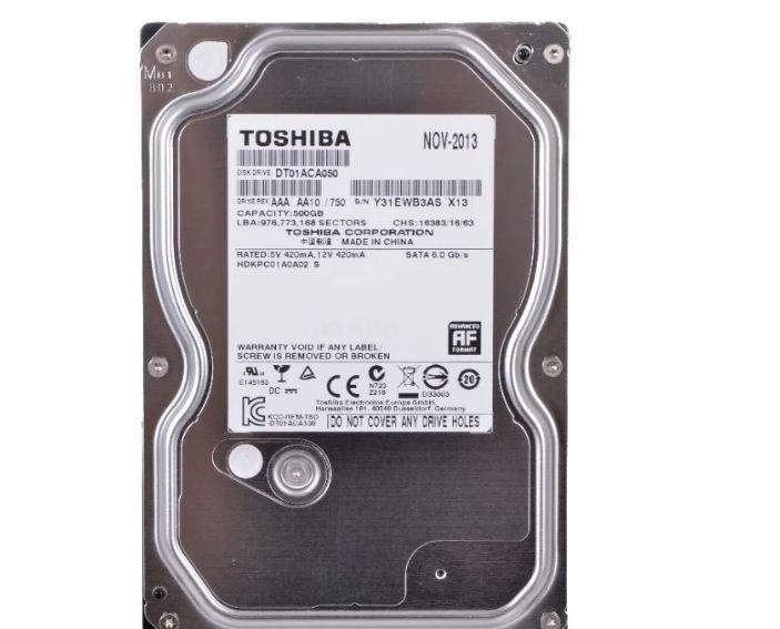 """Жесткий диск HDD 500 Gb Toshiba SATA III (DT01ACA050)(3.5"""")"""