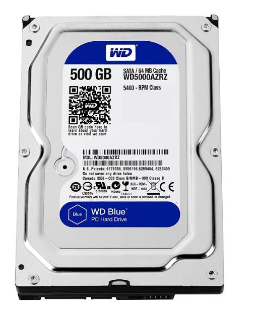 "Жесткий диск HDD 500 Gb Western Digital (WD5000AZRZ), 3.5"", 64Mb, SATA III"