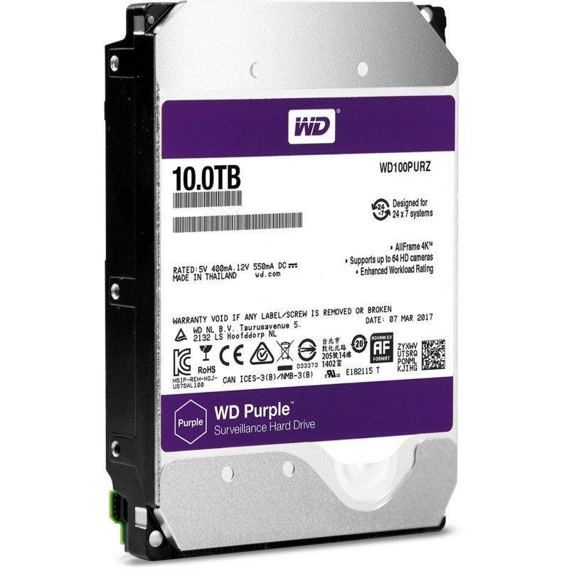 "Жесткий диск Western Digital Purple 10 Тб SATA (WD100PURZ) (3,5"")"