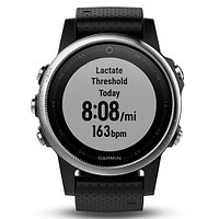Часы с GPS навигатором Garmin Fenix 5S Silver with black band (010-01685-02)