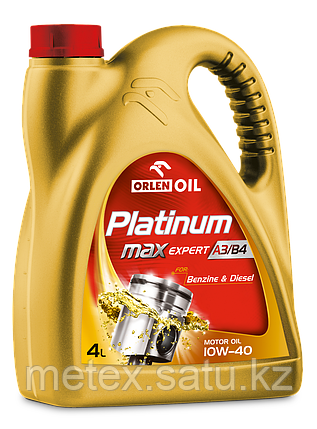 Высококачественное европейское масло Platinum MaxExpert A3/B4 10W-40, 4L, фото 2