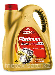 Высококачественное европейское масло Platinum MaxExpert A3/B4 10W-40, 4L