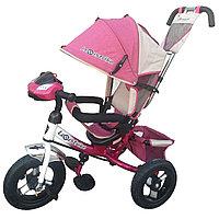 """Велосипед трехколесный """"Lexus Trike""""  светомузыкальная панель Розовый"""