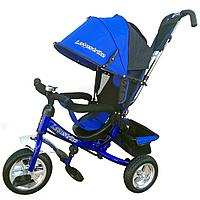 Велосипед трехколесный Lexus trike надувные колеса  Синий