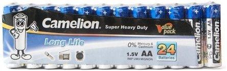 Батарейка Camelion AA R6P-SP24B, Super Heavy Duty, 1.5V, 1220 mAh (24 шт.)