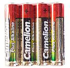 Батарейка Camelion AAA LR03-SP4, Plus Alkaline, 1.5V, 1250 mAh, (4 шт)