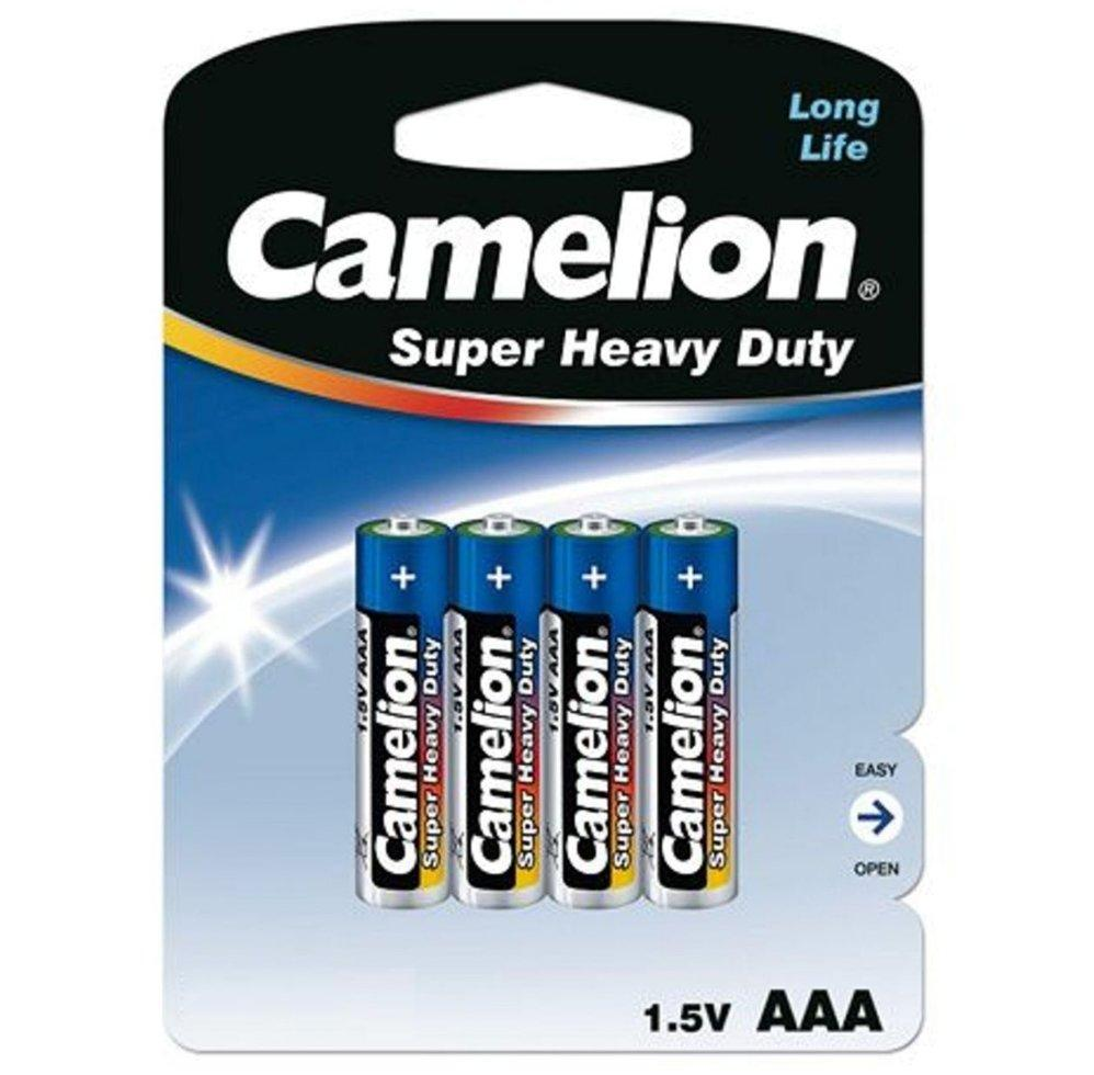 Батарейка Camelion AAA R03P-BP4B, Super Heavy Duty, 1.5V, 550mAh (4 шт.)
