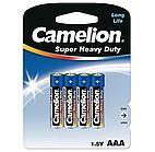 Батарейка Camelion AAA R03P-BP4B, Super Heavy Duty, 1.5V, 550mAh (4 шт.)