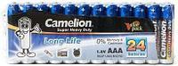 Батарейка Camelion AAA R03P-SP24B, Super Heavy Duty, 1.5V, 550 mAh (24 шт.)