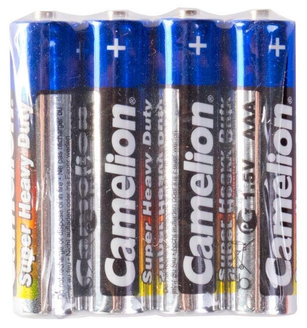 Батарейка Camelion AAA R03P-SP4B, Super Heavy Duty, 1.5V, 550mAh (4 шт.)