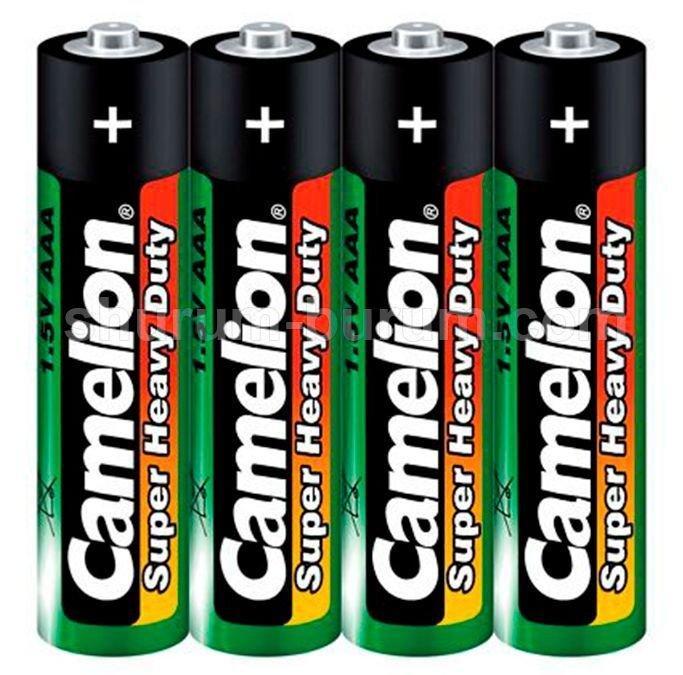 Батарейка Camelion AAA R03P-SP4G, Super Heavy Duty, 1.5V (4 шт.)