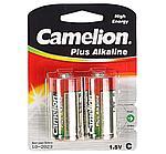 Батарейка Camelion C LR14-BP2, Plus Alkaline, 1.5V, 8450 mAh (2 шт.)