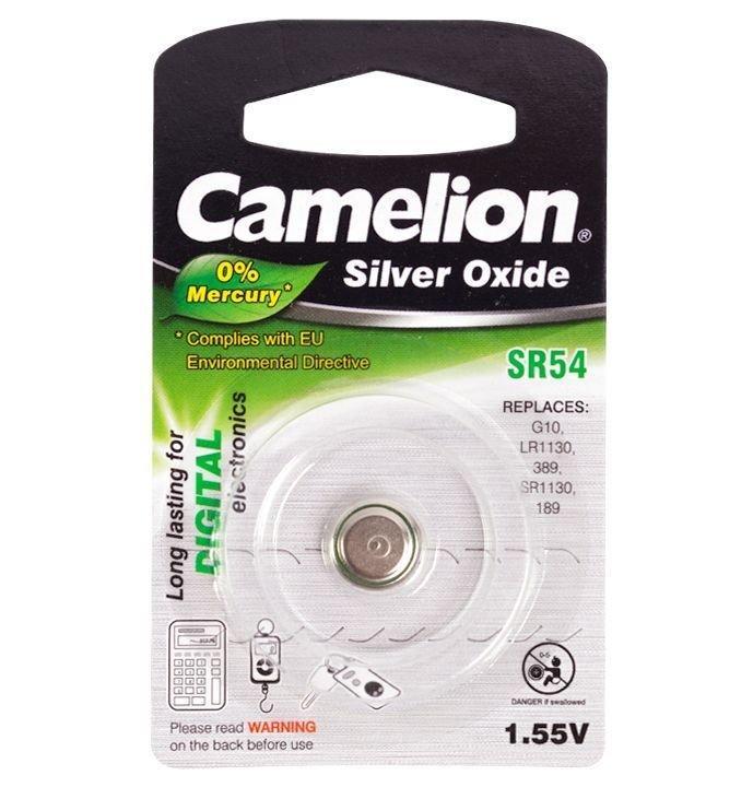 Батарейка Camelion SR54-BP1, 1.55V (1 шт.)