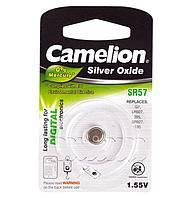Батарейка Camelion SR57-BP1, Silver Oxide, 1.55V (1 шт.)