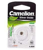 Батарейка Camelion SR60-BP1, Silver Oxide, 1.55V (1 шт.)