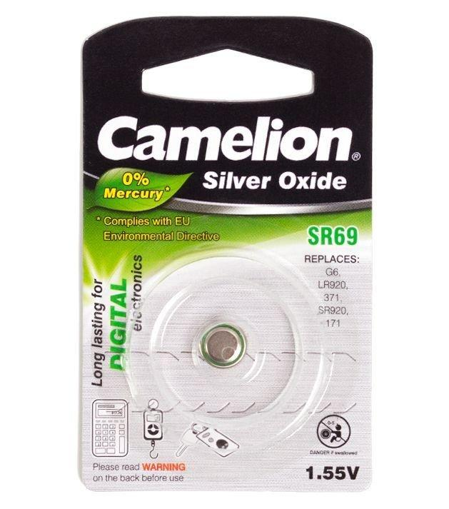 Батарейка Camelion SR69-BP1, Silver Oxide, 1.55V (1 шт.)