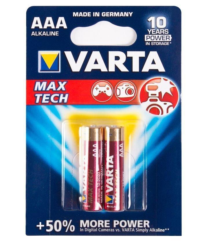 Батарейка Varta AAA LR03 Max tech, 1.5 V (2 шт.)