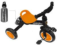 Lamborghini: Велосипед 3-колесный, пласт. кол., бутылочка в комп-те, оранжевый