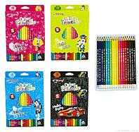 Набор цветных карандашей Yalong 18 цветов девочка