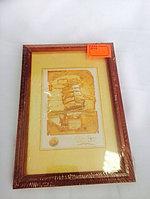 Рамка 10х15см Дерево,стекло.Цена - 350тг