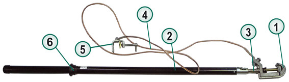 Штанга ШПП  (шунт) переноса потенциала Модель № 13242.01.07.00ПС