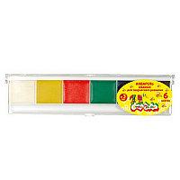 Акварель Каляка-Маляка, 6 цветов, квадратный кювет, пластиковая упаковка АМККМ06