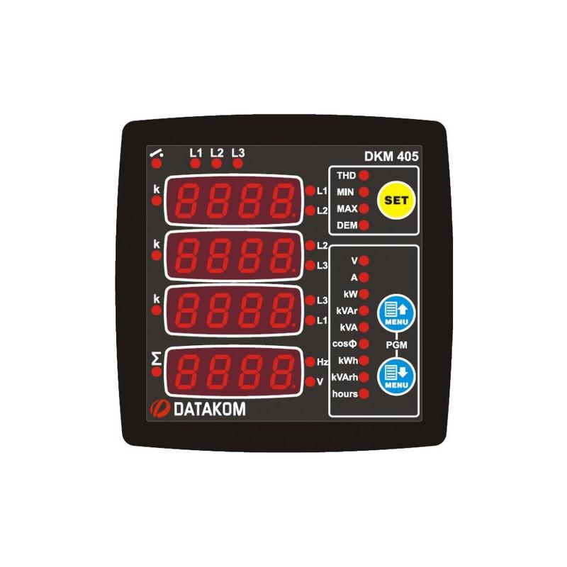 Анализатор электросети Datakom DKM-405-S, THD, 96х96мм