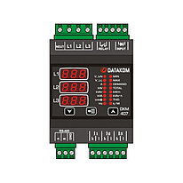 Анализатор электросети Datakom DKM-407, DIN рейка, THD, RS-485, 1 дискретный вход, 1 дискретный выход