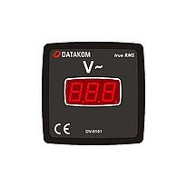 Цифровой щитовой вольтметр Datakom DV-0101 72x72 1-фазный