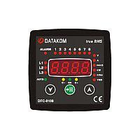 Контроллер компенсации реактивной мощности Datakom DFC-0108 (8 шагов) 96x96 мм