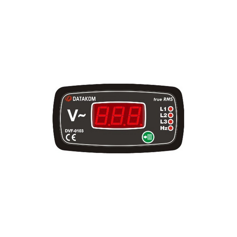 Цифровой щитовой вольтметр-частотомер Datakom DVF-0103 96x48 (3-фазный)